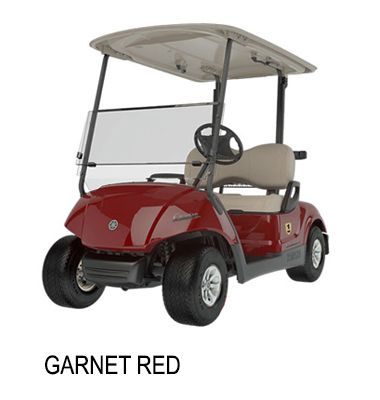 Yamaha Golf Buggies- Garnet Red.  Yamaha golf cart is distributed in India and Srilanka solely by Irrigation Products International Pvt Ltd.