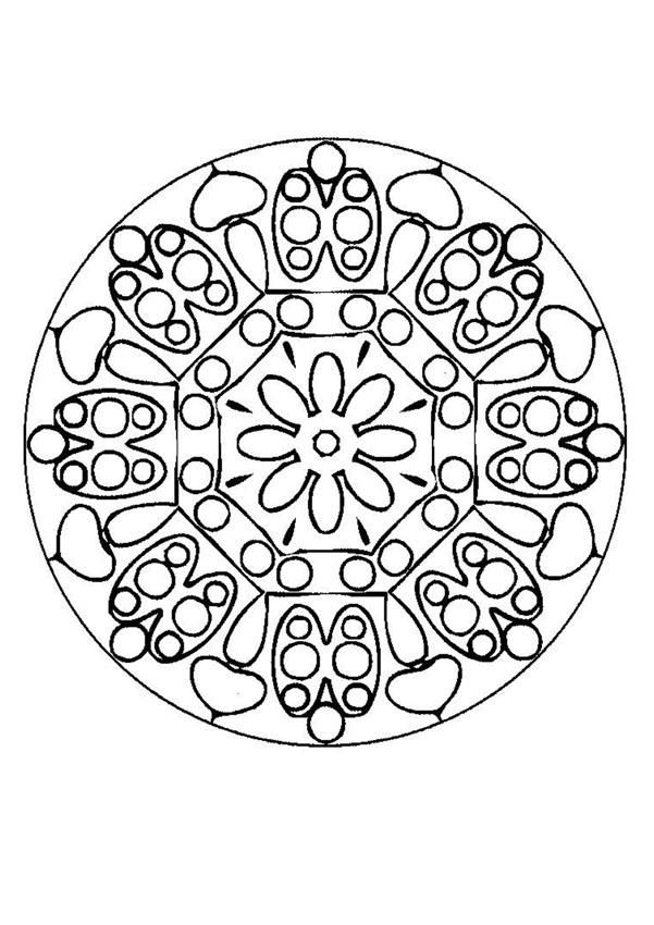 The 25+ best Mandala coloring online ideas on Pinterest   Adult ...