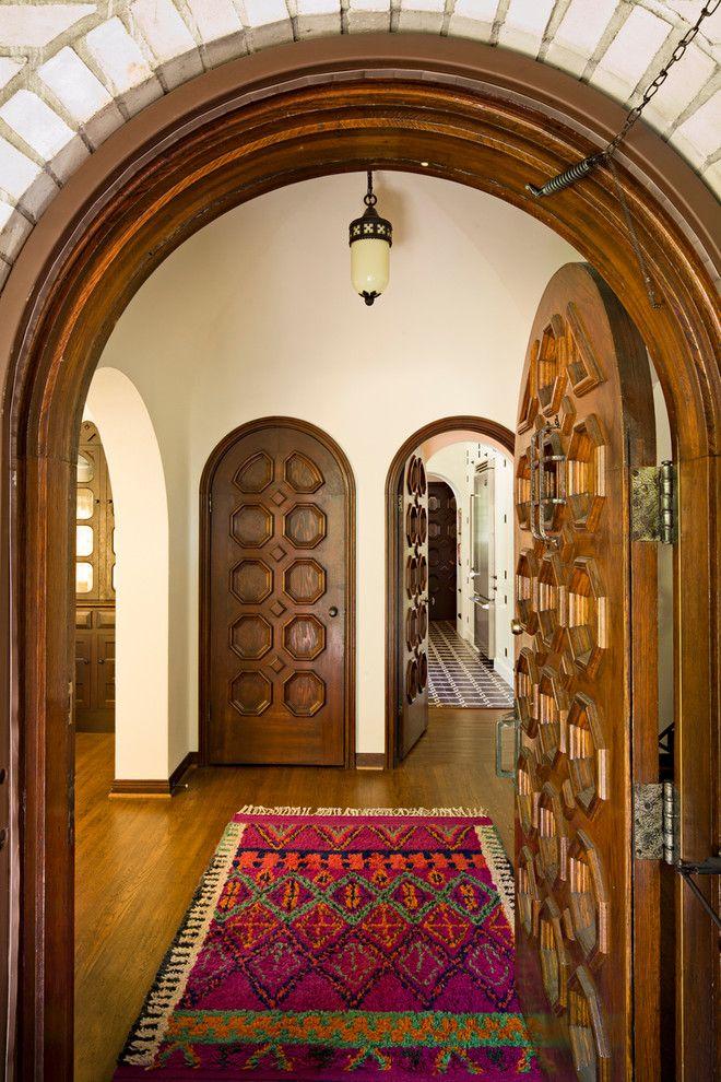 Mediterranean front doors entry mediterranean with moroccan rug wood door