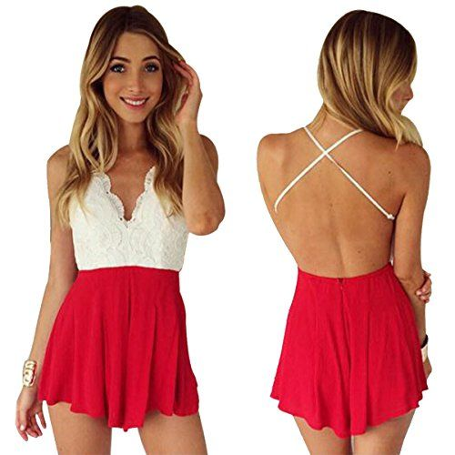 Red Short Jumpsuits and Rompers