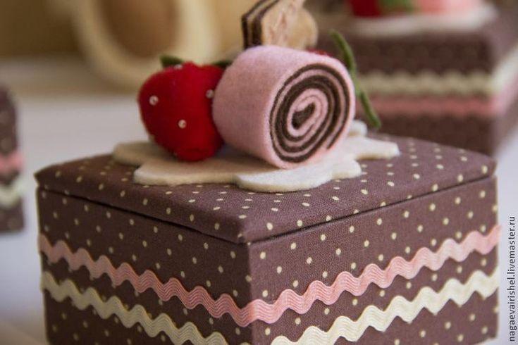 Шкатулка-бонбоньерка в технике картонаж своими руками - Ярмарка Мастеров - ручная работа, handmade
