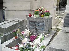 Jim Morrison's grave in Paris. one day I will visit while listening to the tunes he gave us <3