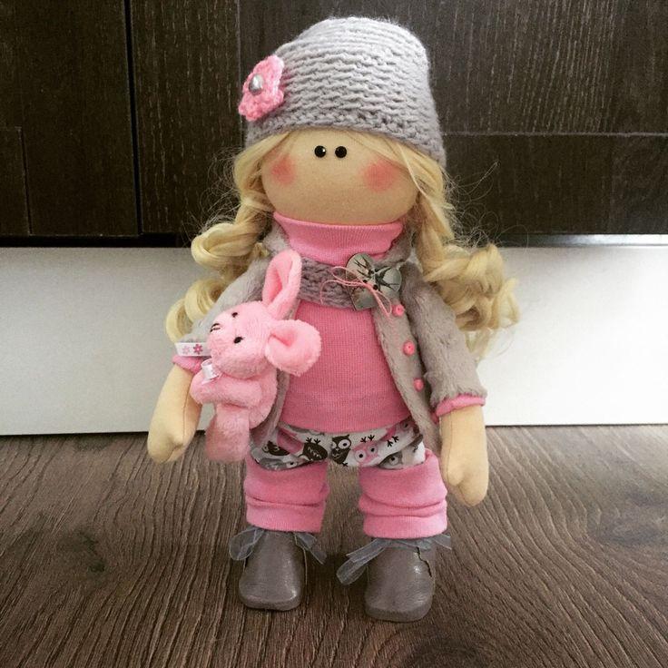 Купить Куколка малышка Алиса - большеножка, тильда, кукла малышка, Большеголовка, кукла ручной работы