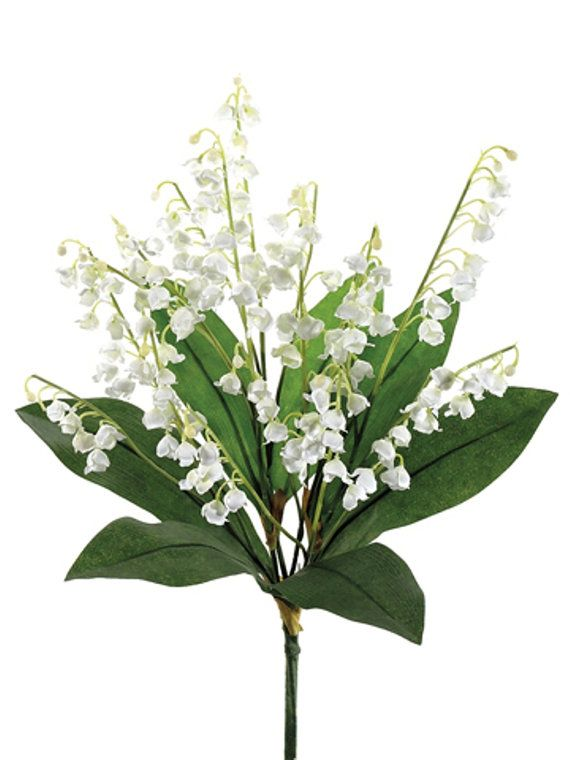 Artificial Lily of the Valley Bush White Fake by FaveursdeMariage for bridesmaid bouquet