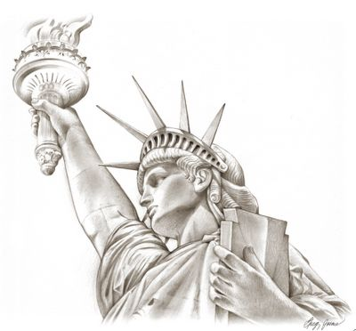 1000+ ideas about Statue Of Liberty Drawing on Pinterest ... Statue Of Liberty Drawing Face