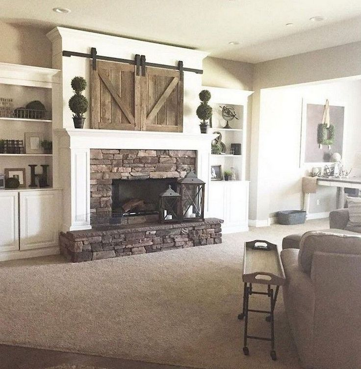 122 wonderful farmhouse style fireplace ideas with images