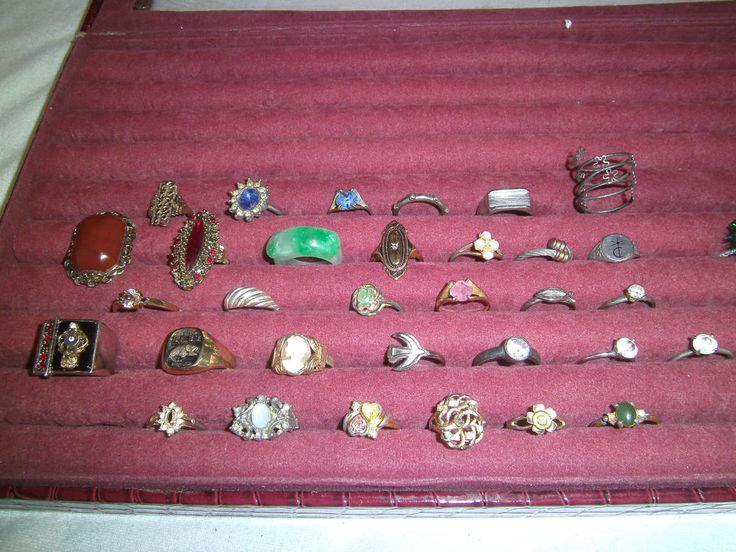 Lot of 32 Vintage & Costume Jewelry Rings ( mens deer ) gold filled Plated L167 #Cocktail