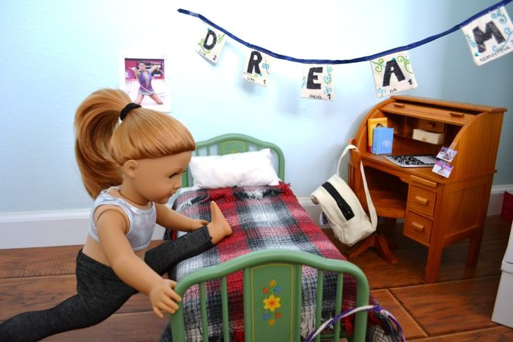 The Doll Wardrobe: London 2012 Photo Contest Entry! She is doing the spits for gymnastics!