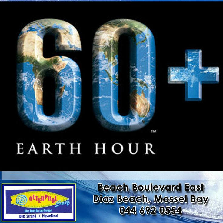 Don't forget about the 60+ Earth Hour on 29 March 2014 8:30-9:30pm. So come and be part and switch all your lights off for an hour on 29 March at 8:30 pm  - to raise awareness for the planet. Share this with your friends and family. #EarthHour #Saterday29March