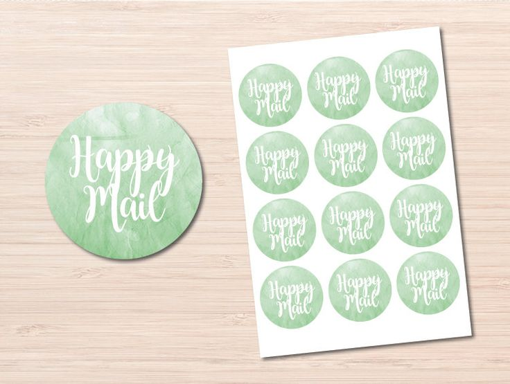 Happy Mail Stickers ~ Happy Mail ~ Watercolor Stickers ~ Business Stickers ~ Letter Stickers ~ Bulk Stickers ~ Round Stickers ~ Stickers