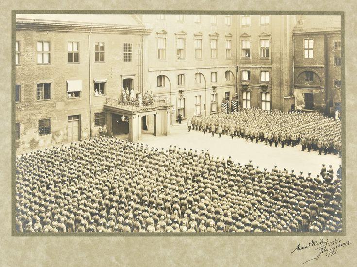 Courtyard of Konigsberg Castle, 1915