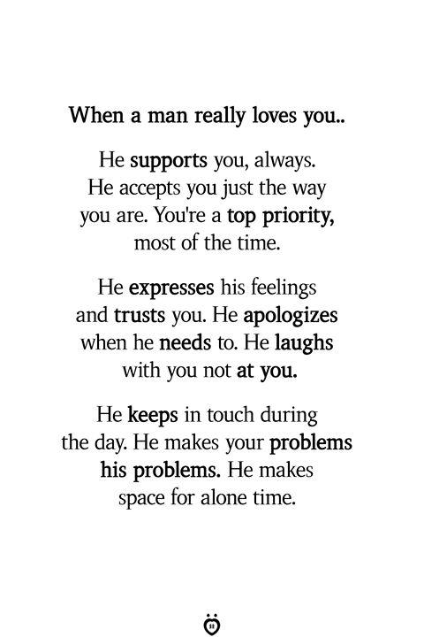 Wenn ein Mann dich wirklich liebt. Er unterstützt dich immer   – Relationship