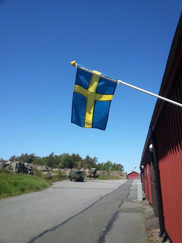 Flaggdag på Oscar II fort 6/6-15