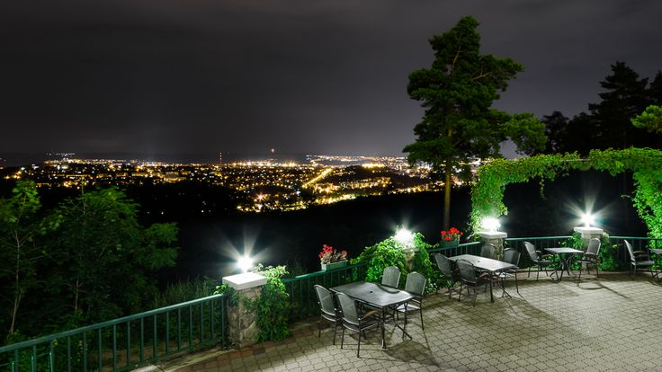 Night view from the terrace - really nice!