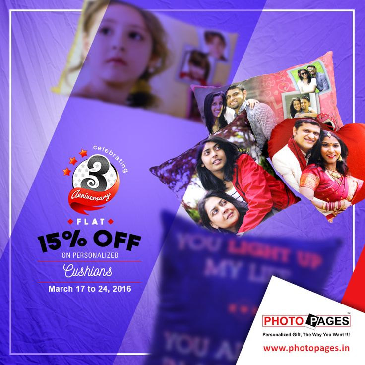 Add a personal touch to your home, car or any comfort zone, by getting a photo printed of your family or loved ones on cushions. #Personalized #Gift #Cusions #PhotoPages #Ahmedabad Personalized Cushions