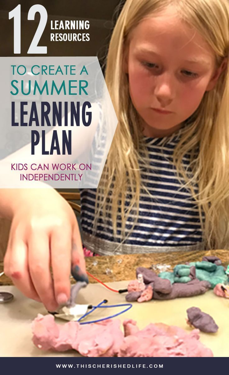 Create an at-home summer learning plan with your kids that they can (and want to) do on their own - kids can learn math, science, programming, typing, cursive over the summer with these tips for goals & incentives to learn  - This Cherished Life