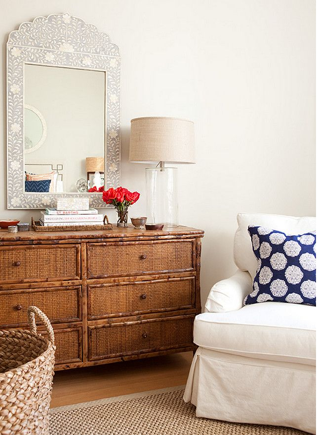 """Interior Design Ideas - """"Bedroom Dresser"""" (I'm only pinning this because of the mirror. Love that mirror!)"""