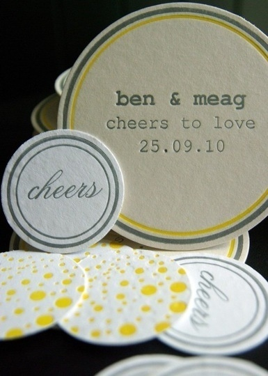Save the Date coasters are creative and a fun way to let your friends and family know you'll be tying the knot soon!