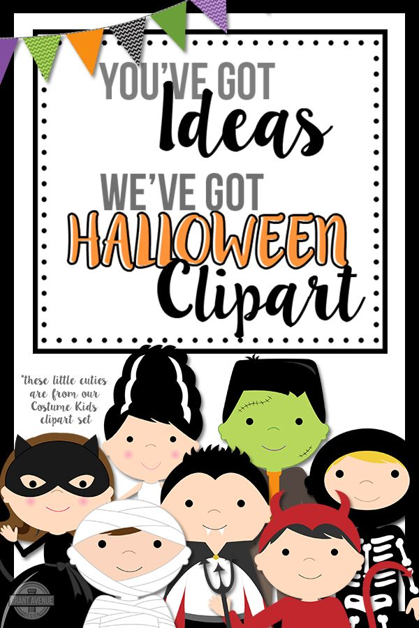 Cute Halloween clipart for teachers, scrapbookers, and small businesses. Your crafts and creative projects will get the pizazz your aiming for with our Halloween digital clipart! Make sure to sign up for our weekly FREE clipart!