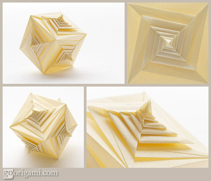 Spiral Faced Cube by Tomoko Fuse | Go Origami!