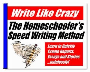 Write Like Crazy – The Homeschool Speed Writing Method « Homeschool Freebie of the Day (Free download link has expired but I pinned anyway so I can look for the book somewhere else...)