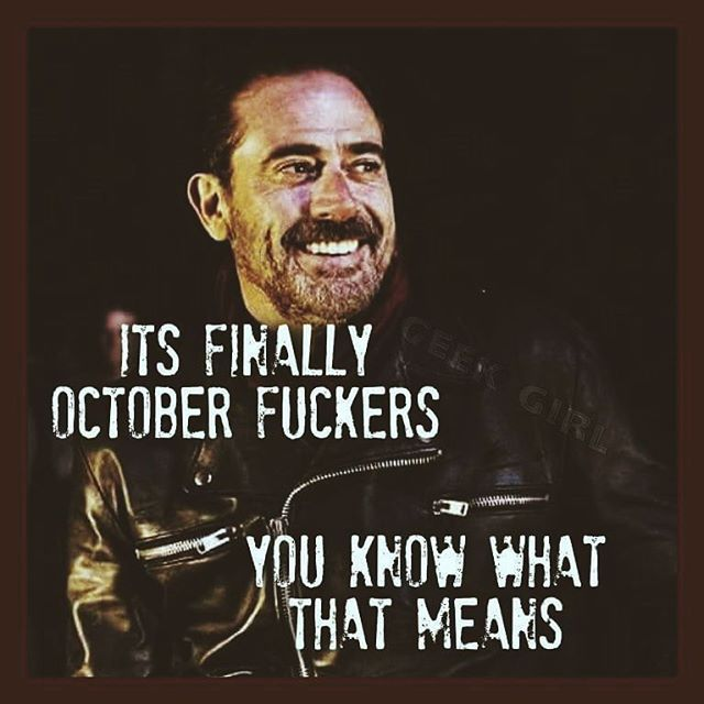 Negan (Jeffrey Dean Morgan); The Walking Dead returns to AMC October 23rd, 2016.