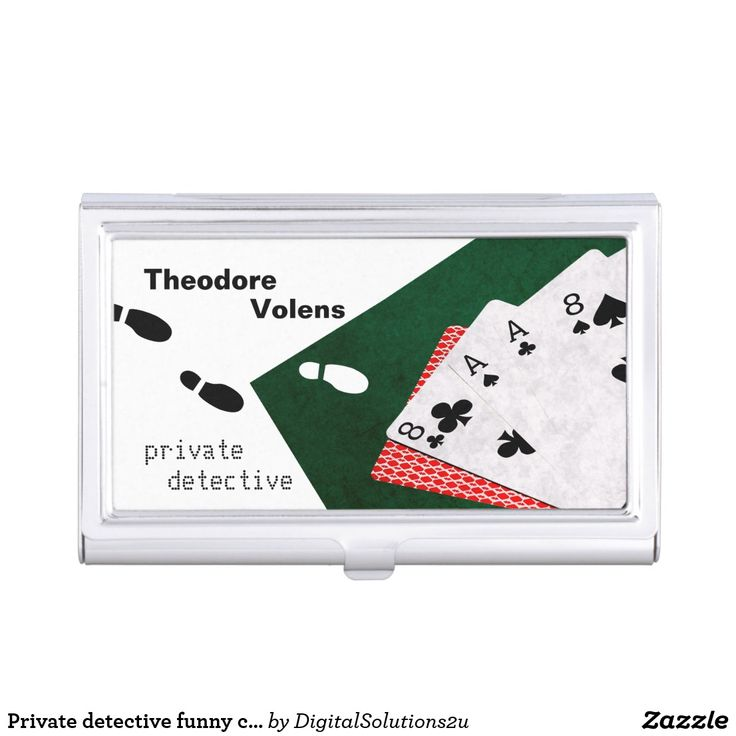 Private detective funny customizable business card holder