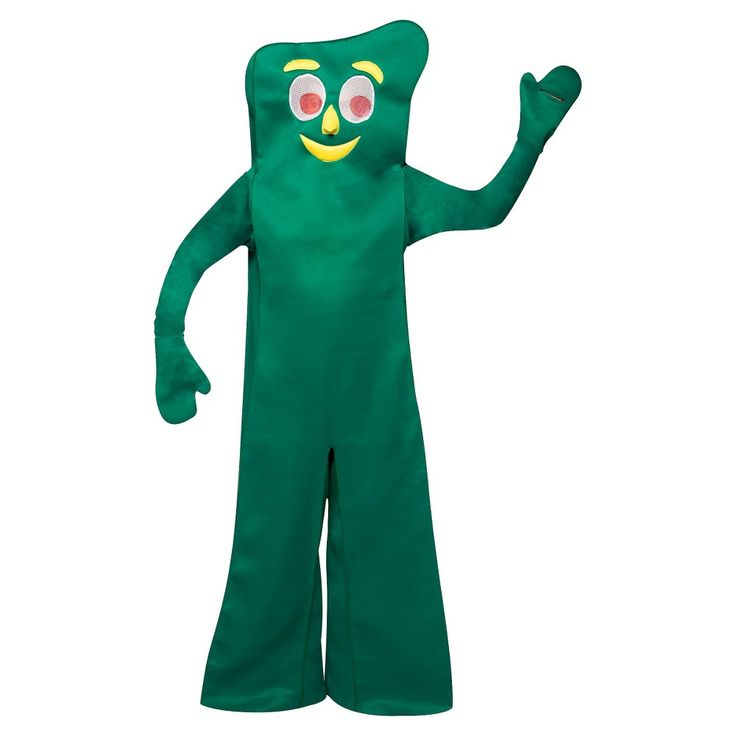 Adult Gumby Costume One Size Fits Most, Dark Green