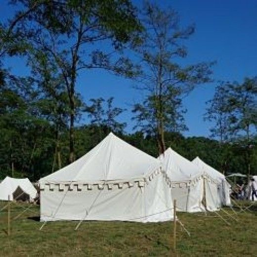 A Medieval Encampment with Period Tents