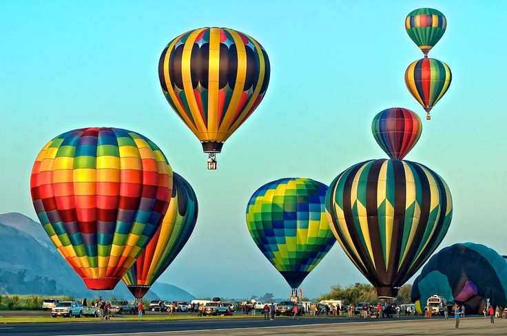 Hot Air Balloons Just After Sunrise