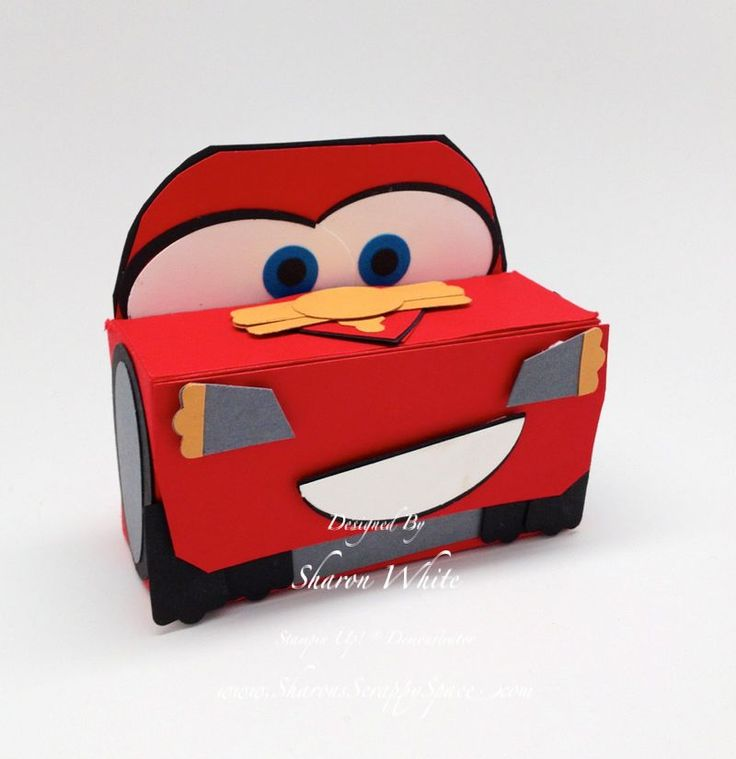 Car's Lightening McQueen Punch Art Stampin' Up! Punches   instructions on website