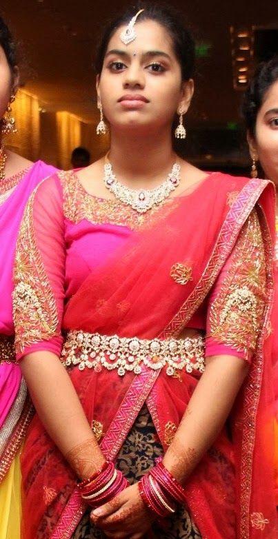 Girl in Trendy Diamond Vaddanam and Set - Jewellery Designs