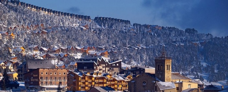 Les Angles Ski Resort, Pyrennes, France. Population 600