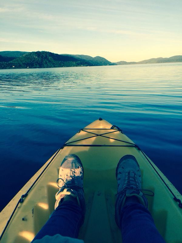 Kayac en Lago cucao, localidad cucao-chiloe-Chile