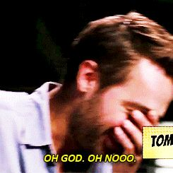Embarrassed Tom Mison is like the cutest evah! He even blushes..awww