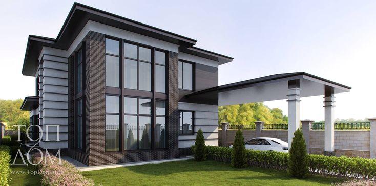 Архитектурный проект коттеджа в стиле минимализма – 3d визуализация, планы…