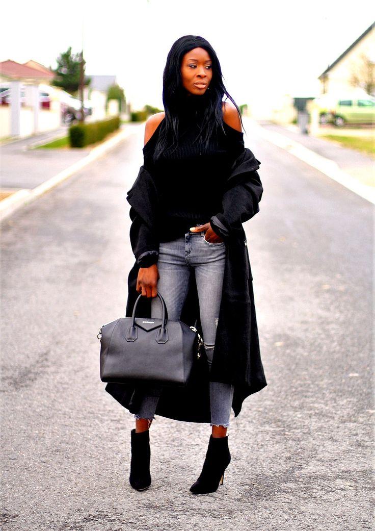 manteau-oversize-asos-monki-pull-epaules-denudees-sac-givenchy-antigona-bottines-zara-jeans-dechiré