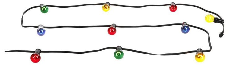 Globo E27 40 Watt Nirvana Plastic Multi-Colour Outdoor Party Light Chain