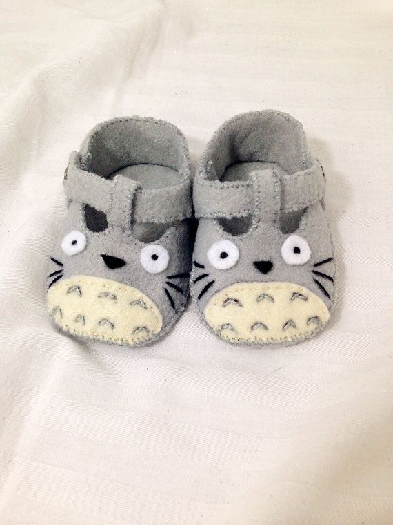 Surprise someone special today with these adorable Totoro Baby Shoes! Totoro is guaranteed to put a smile on anyones face! These fuzzy booties