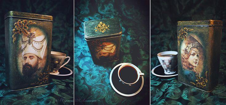 Coffee box «Muhteşem Yüzyıl». Decoupage. By me.