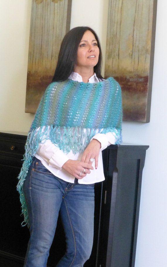 High Tide Poncho Knitting Pattern Boho Chic by TheKnittingTwins