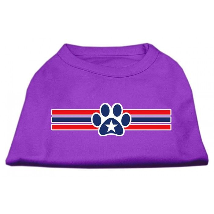 Patriotic Star Paw Screen Print Shirts Purple XXL (18)  A poly/cotton #sleeveless #shirt for every day wear, double stitched in all the right places for comfort and durability!