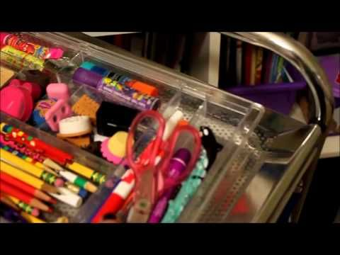Homeschool Workbox System - Vika Alex Drawer units are deeper than the 10-drawer rolling carts from JoAnn's/Michael's are are more strudy.  They have more room to hold 3-ring binders.