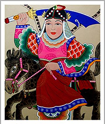 """여장군 Female Janggun Warrior Spirit (The fact that this is A FEMALE spirit is NEW DEVELOPMENT and I""""M SO HAPPY ABOUT IT!)"""