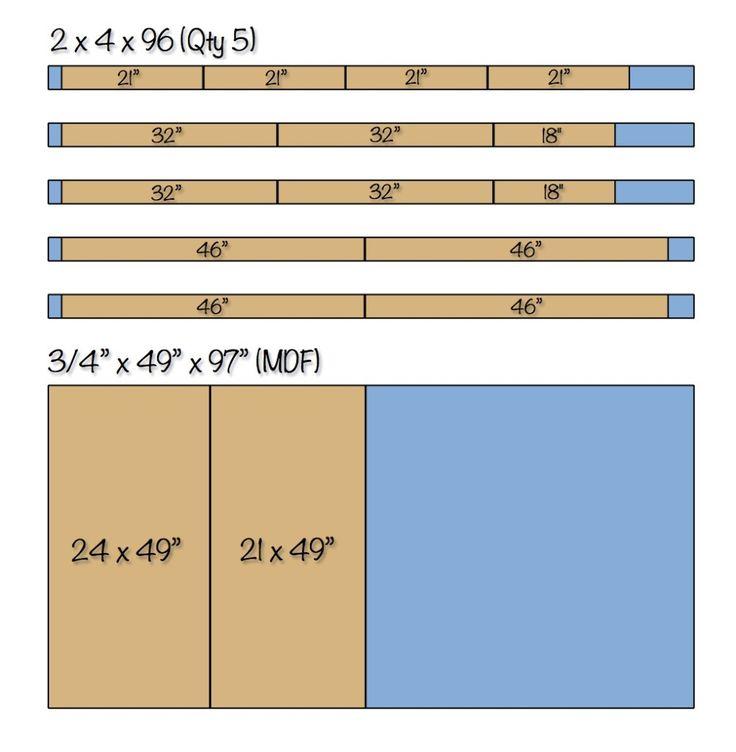 Workbench Plans Easy DIY Portable Workbench Plans | Cut List