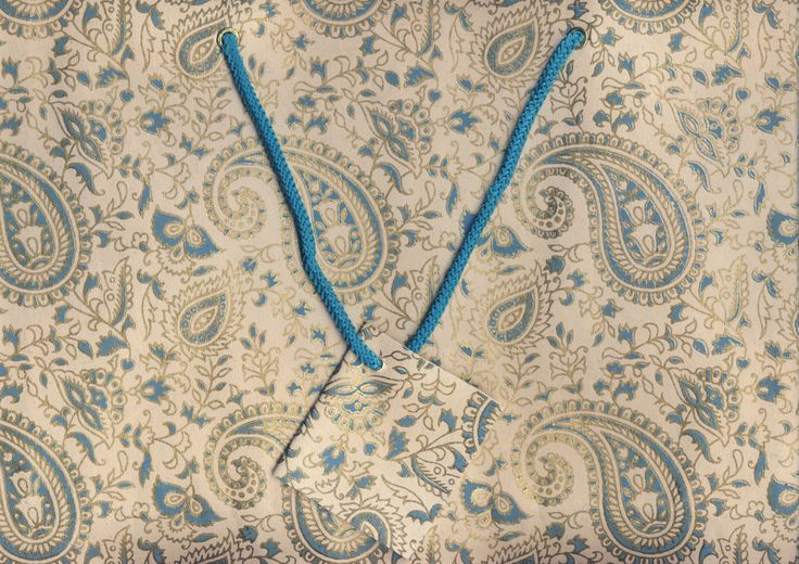 Cream-Turquoise  # 12 Large Bag (12)