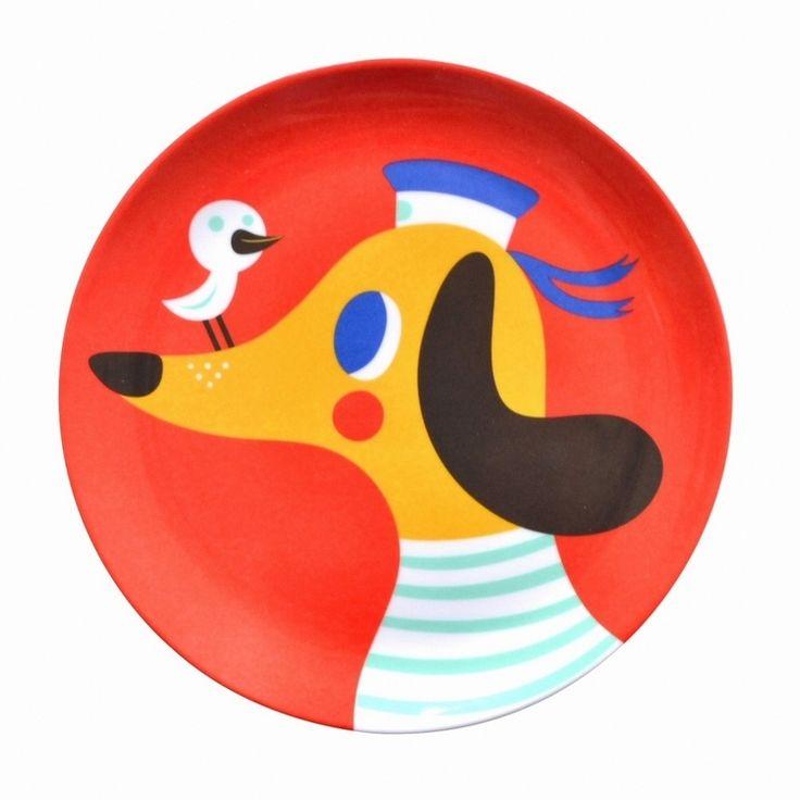 melamine eetbord hond rood #Melamine #Plate #Dog by @helendardik from http://www.kidsdinge.com  https://www.facebook.com/pages/kidsdingecom-Origineel-speelgoed-hebbedingen-voor-hippe-kids/160122710686387?sk=wall    http://instagram.com/kidsdinge #Toys #Speelgoed
