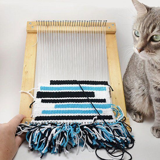 Make a loom with things you probably already have on hand. So much cheaper than buying!