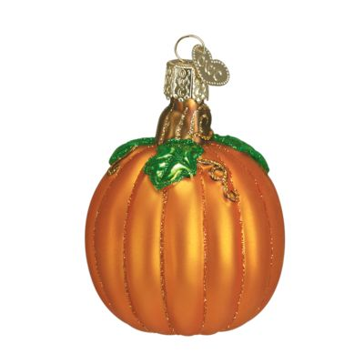"""Pumpkin+Christmas+Ornament+28046+Merck+Family's+Old+World+Christmas+Material: +mouth+blown,+hand+painted+glass+Size: +2.75""""+to+top+of+hanger+Includes+Free+Gift+Box+Hang+"""