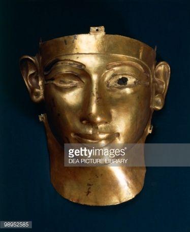 Treasure of Tanis, incomplete gold mask of King Sheshong III